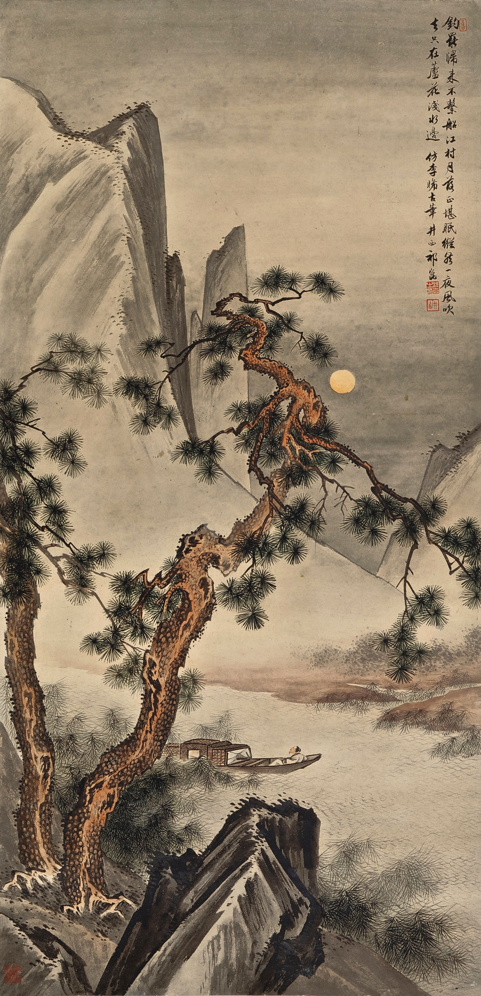 Pingl par mary sur chinese hand painted prints for Paysage asiatique peinture