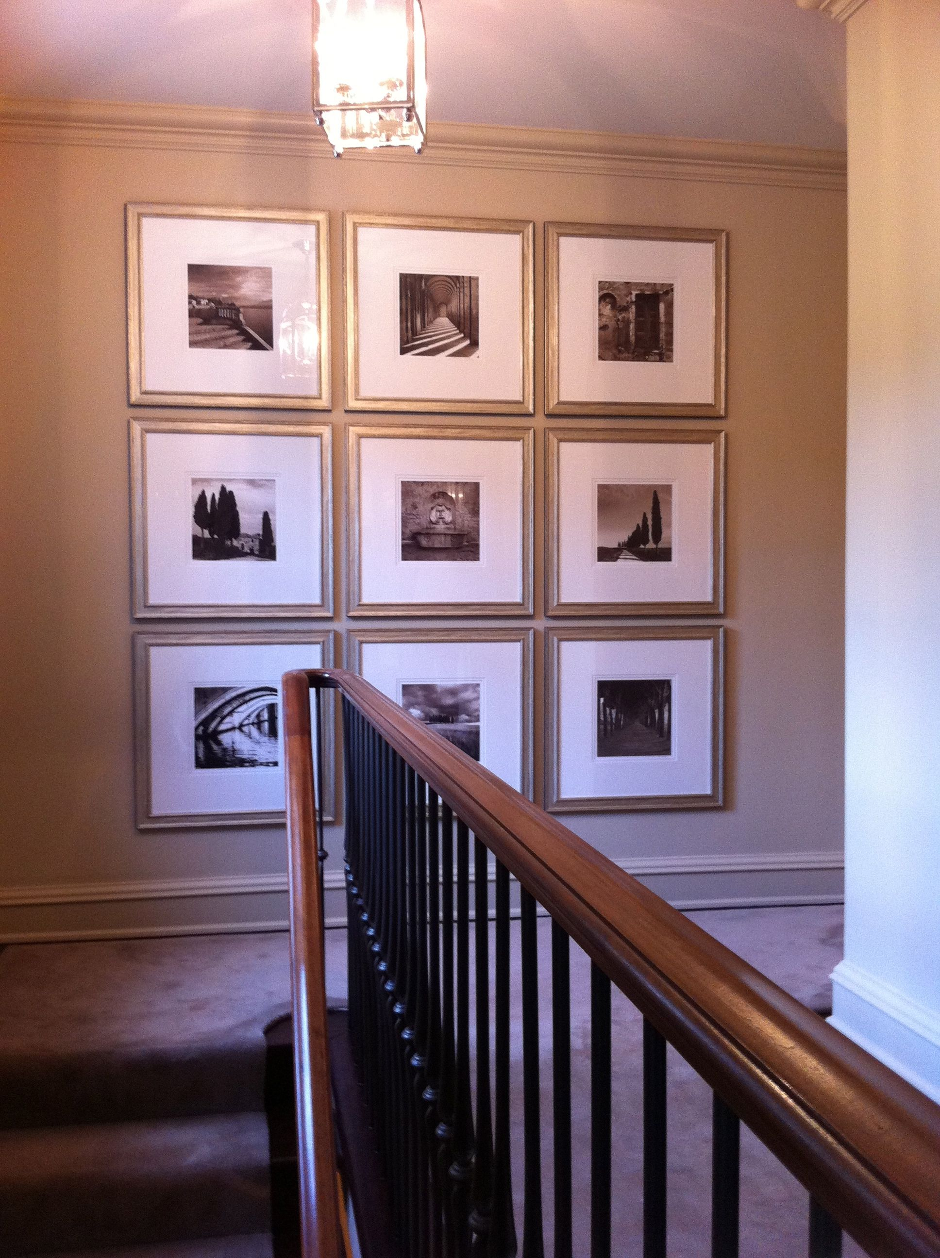 a simple square grid of 9 gallery wall gallery wall on wall frames id=72559