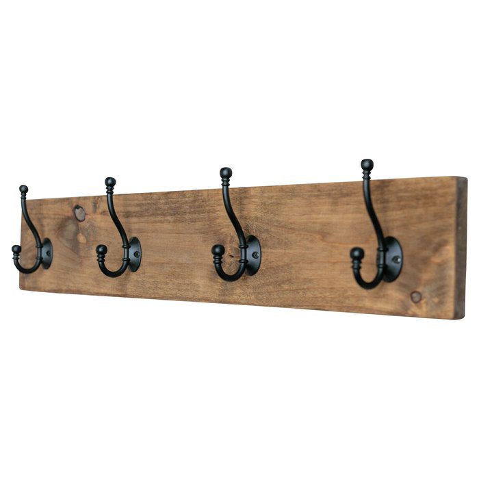 Gosnold Hook Board Wall Mounted Coat Rack Wall Mounted Coat Rack Coat Rack Diy Coat Rack
