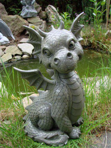 Ars Bavaria Sitting Dragon Figure Gargoyle Garden Ornament 400 x 300