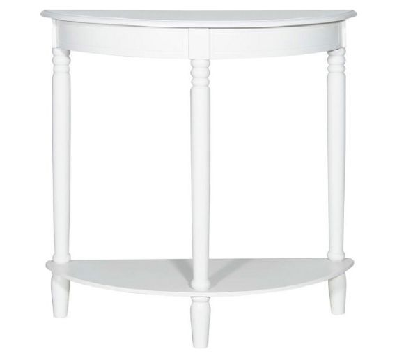 Buy Home Of Style Chawston Half Moon Table At Argos Co Uk Your Online Shop For Occasional And Coffee Tables Coffee Side Table Half Moon Console Table Table
