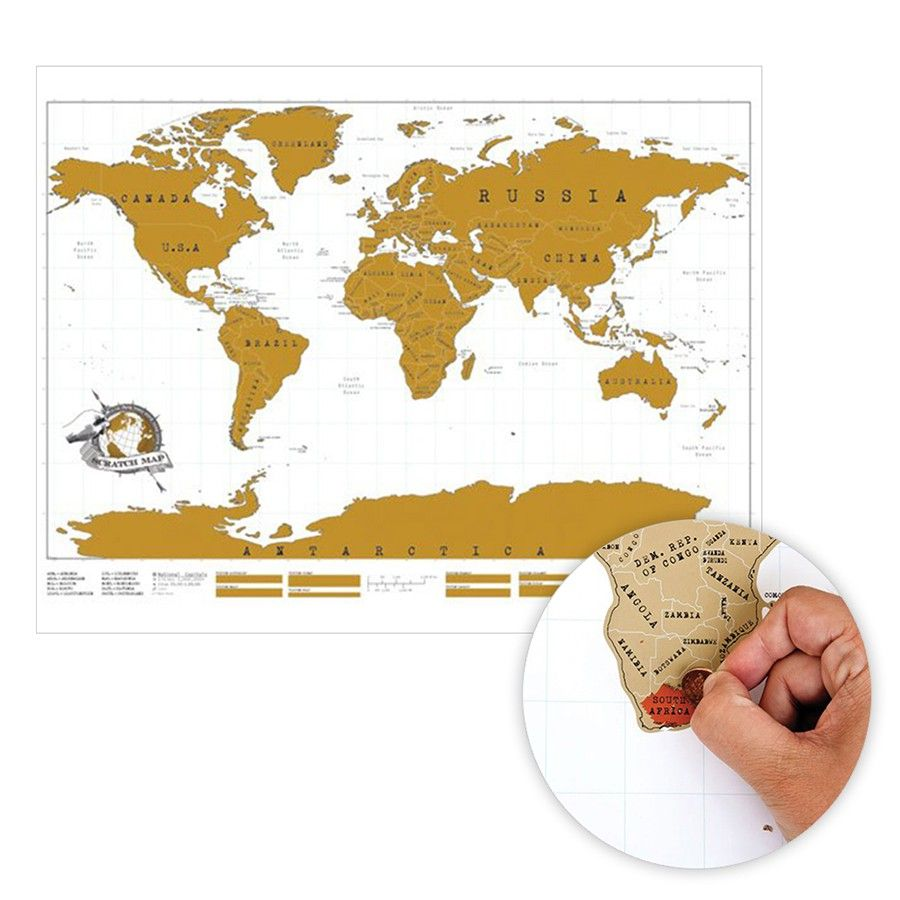 World Map With Scratchoff Countries So You Can Mark Where Youve - Us travel map push pin