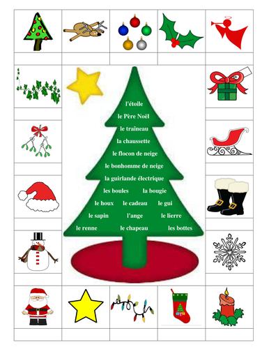 French christmas worksheets ks3