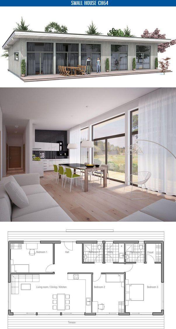 plan de petite maison House Pinterest Plans de petite maison