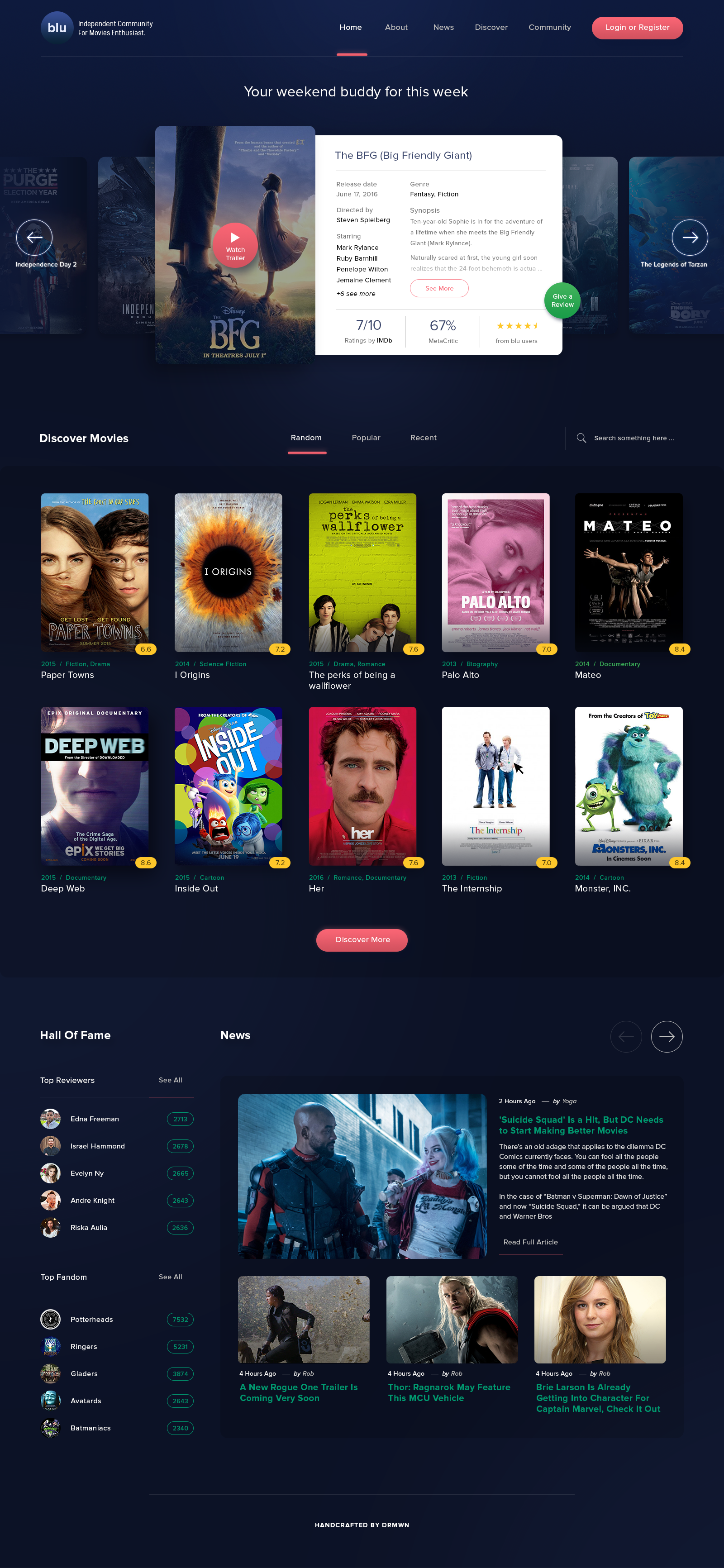 Movies Site User Interface By Aji Darmawan Creative Web Design Fun Website Design Web App Design