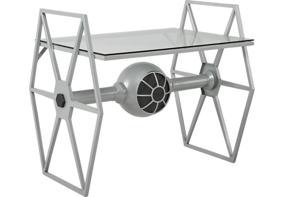 picture of <i>Star Wars</i> TIE Fighter Gray Desk from Furniture ...