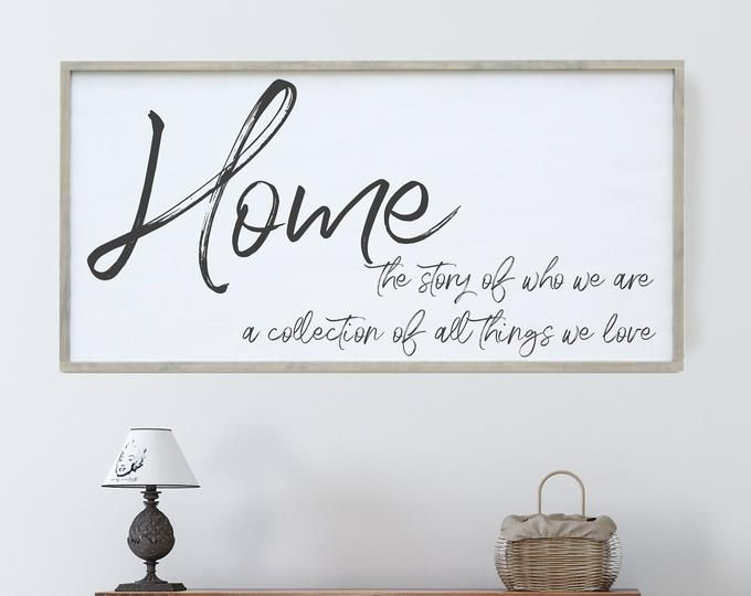 Home Is The Story Of Who We Are Wood Sign Welcome Home Wall Etsy Wood Signs Sayings Sign Quotes Wood Signs