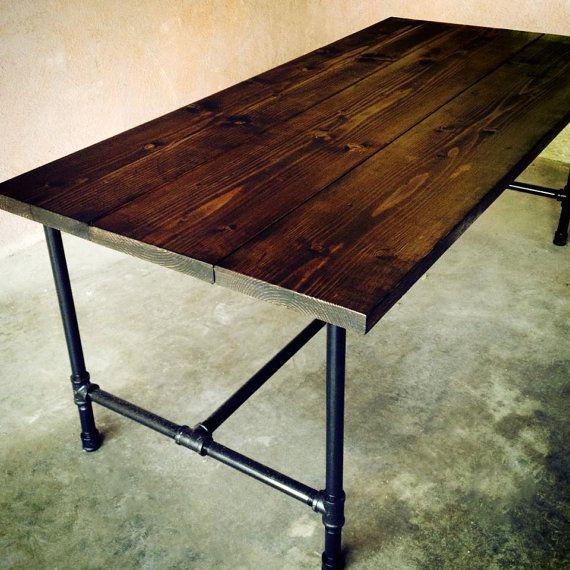 Handmade Dining Room Tables: Handmade Wood And Galvanized