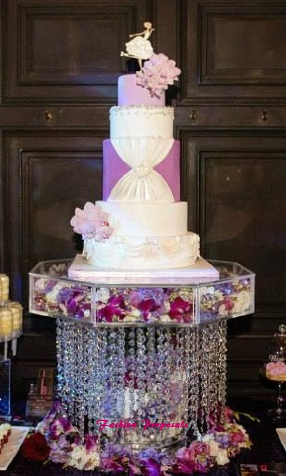 This beautiful crystal wedding cake chandelier stand is for Beautiful cake stands