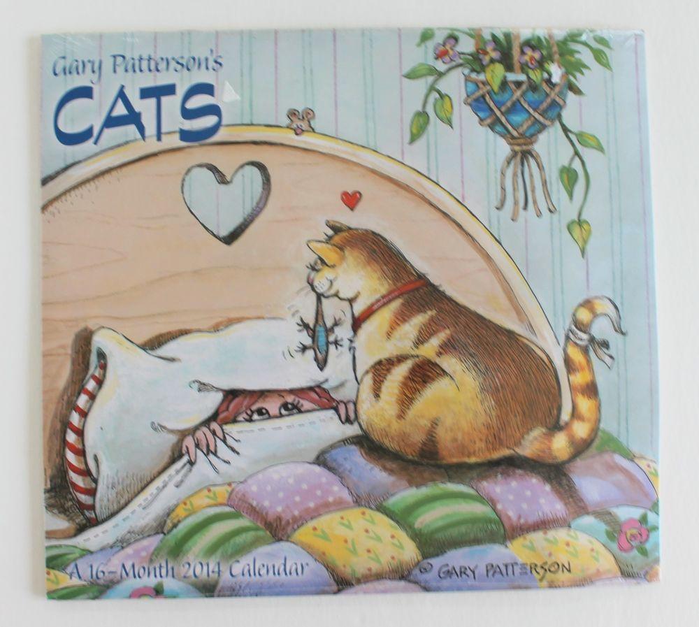 New Gary Patterson's Cats Cartoons 2014 Wall Calendar 12 X