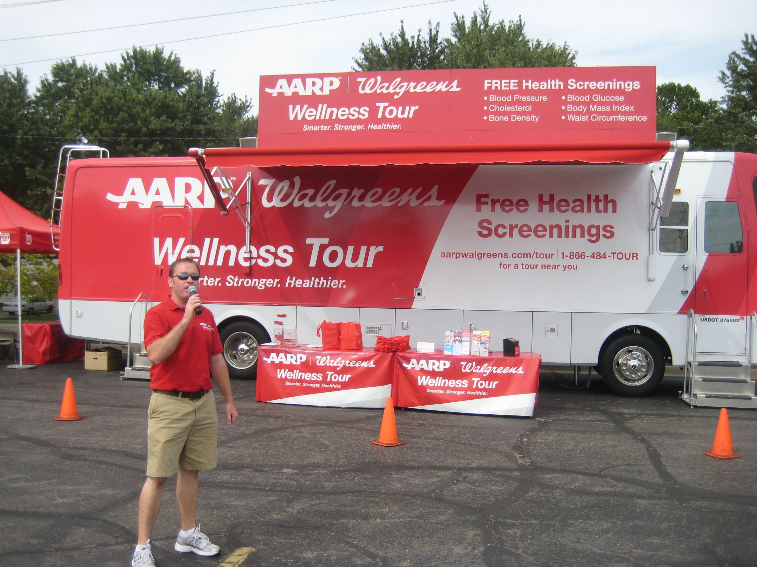 AARP Walgreens Wellness Tour Aarp, Health screening