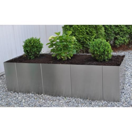 Edelstahl Hochbeet Square 160 H50 160x60x50cm Made In Germany Hochbeet Garten Und Bepflanzung
