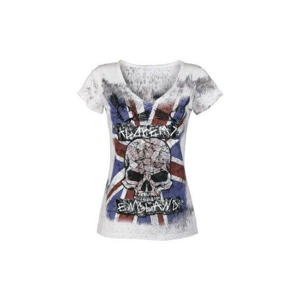 Alchemy Punk ($22) ❤ liked on Polyvore featuring tops, shirts, t shirt, punk shirt, punk rock shirts, shirts & tops and punk tops