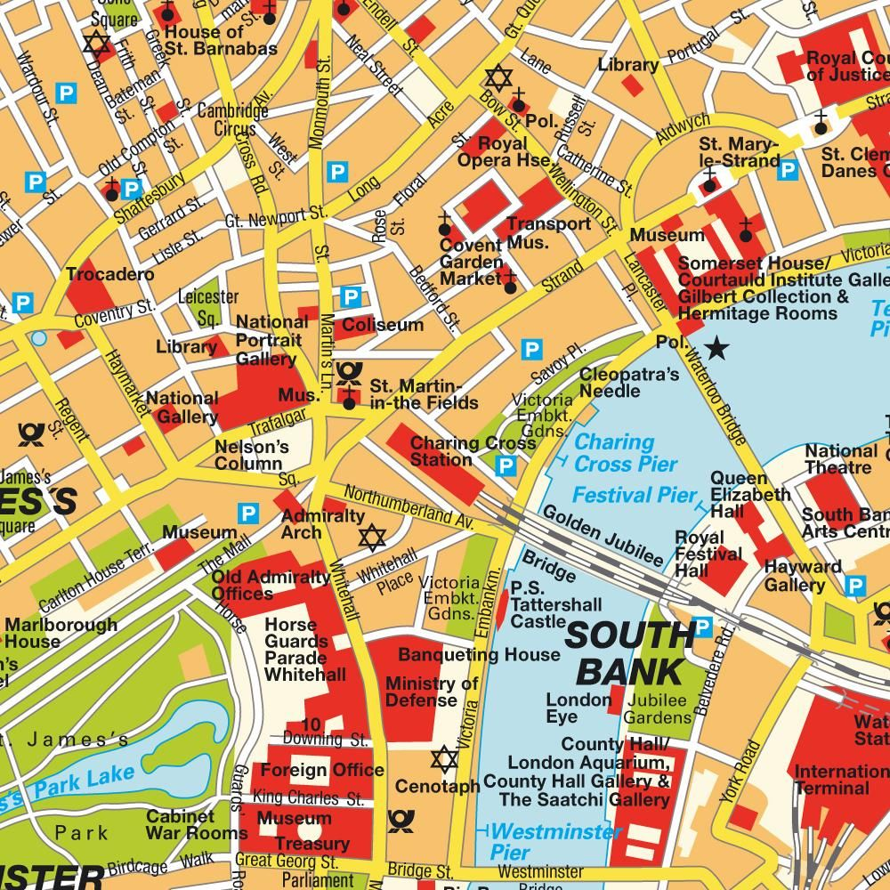 map of london england