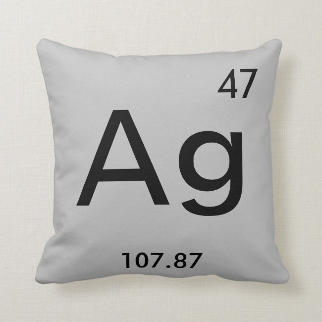 Silver Throw Pillow Affiliate