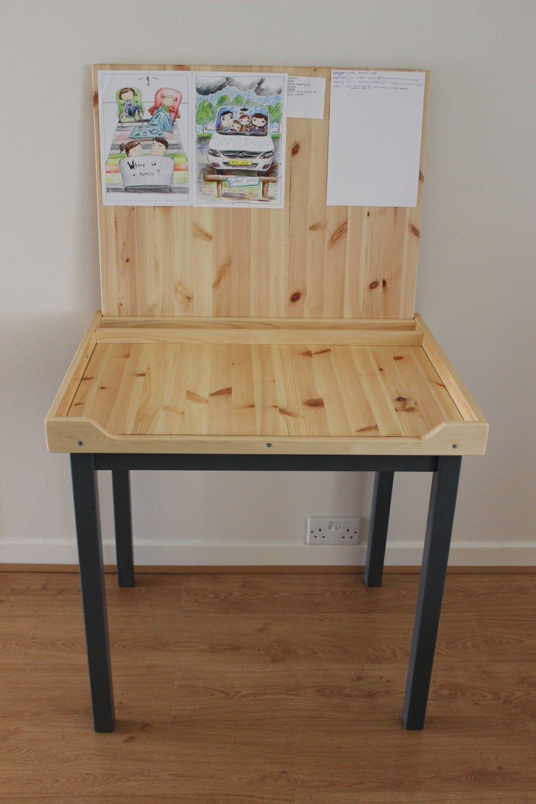 An Artist Desk With Paper Storage Ikea Hackers Art Desk Ikea