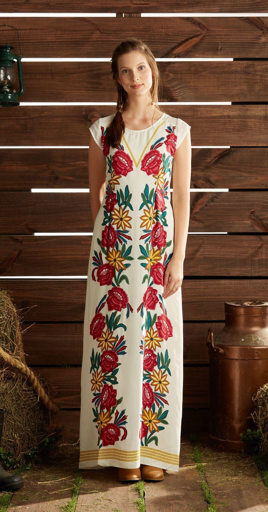 Só na Antix Store você encontra Vestido Longo Caminhos das Flores com exclusividade na internet