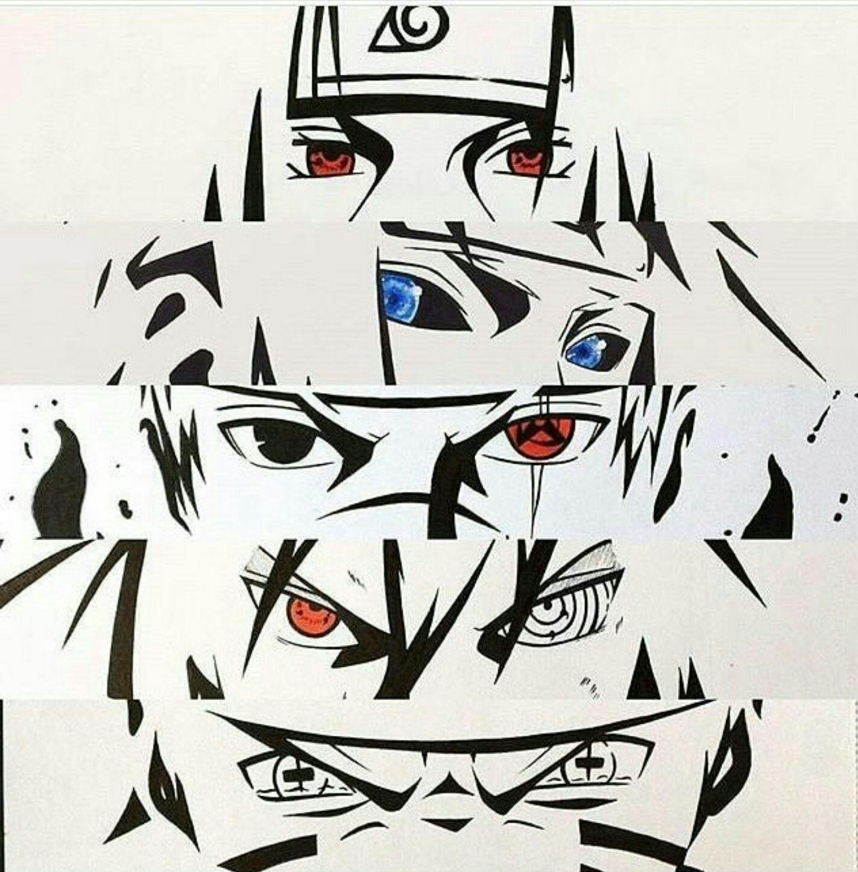 Itachi Minato Kakashi Sasuke Naruto Naruto Drawings Naruto Eyes Naruto Tattoo