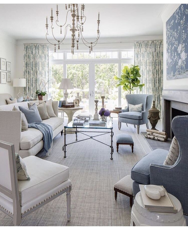 Best Soft Blue And White Living Room Elegant Living Room 640 x 480