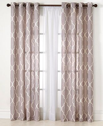 Elrene Medalia Window Treatment Collection  Easy Care Linen Look Amusing Window Curtains For Dining Room Design Ideas