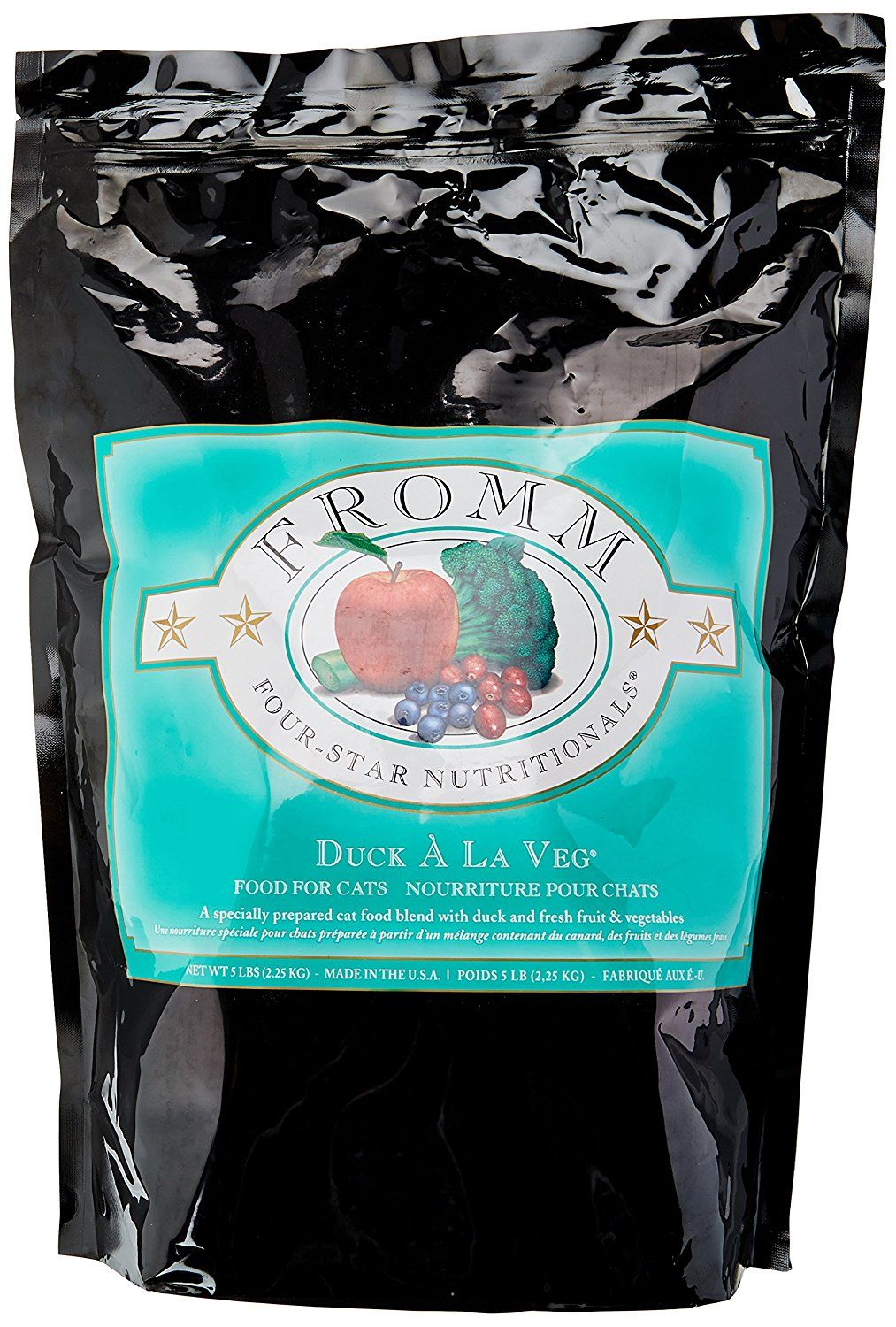 Fromm Four Star Duck A La Veg Dry Dry Cat Food 5 Pound Bag