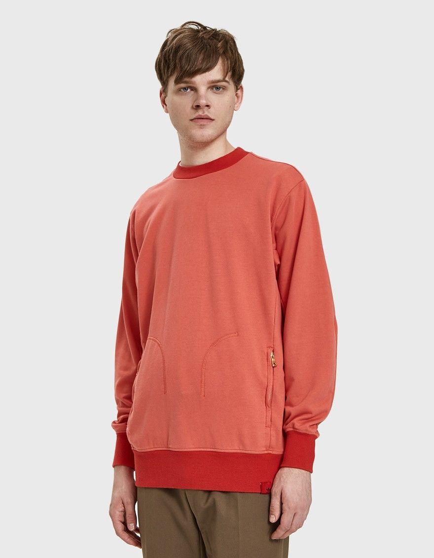 Adidas Oyster Xbyo Crewneck Long Sleeve Tshirt Men Mens Tops Crew Neck [ 1130 x 880 Pixel ]