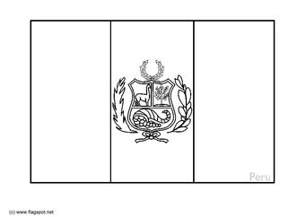 Coloring Page Flag Peru Img 6360 Flag Coloring Pages Peru