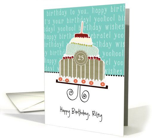 Happy Birthday Riley Customizable Card Name