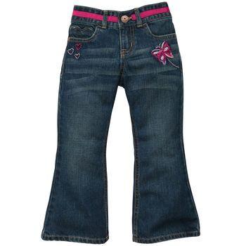 Baby girl embellished jean with heart-shaped pocket. #oshkoshbgosh #LookoftheWeek