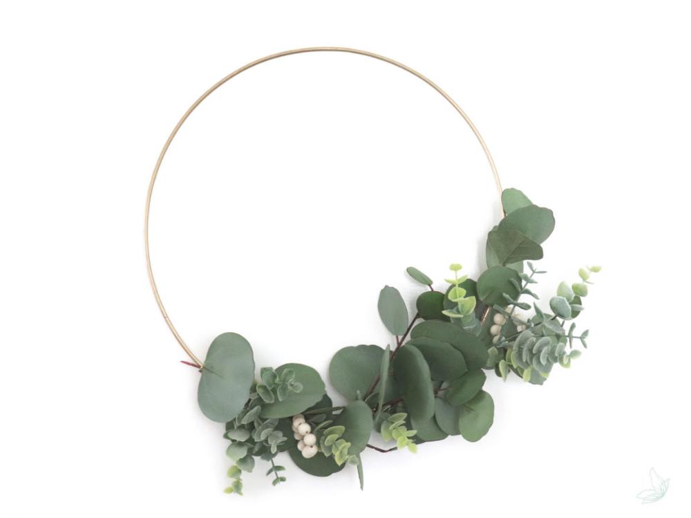 Scandi Herbst - DIY Eukalyptus Kranz #weihnachtsdekobalkon