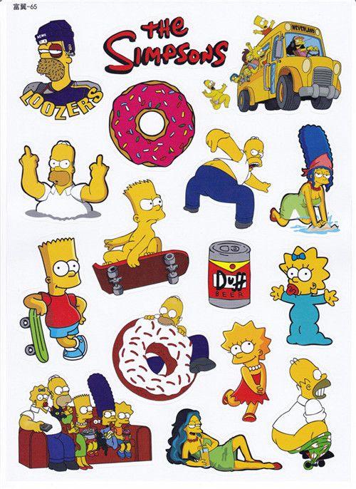 Lembar sticker kartun sticker eropa dan amerika animasi sticker simpson pelayan autobots