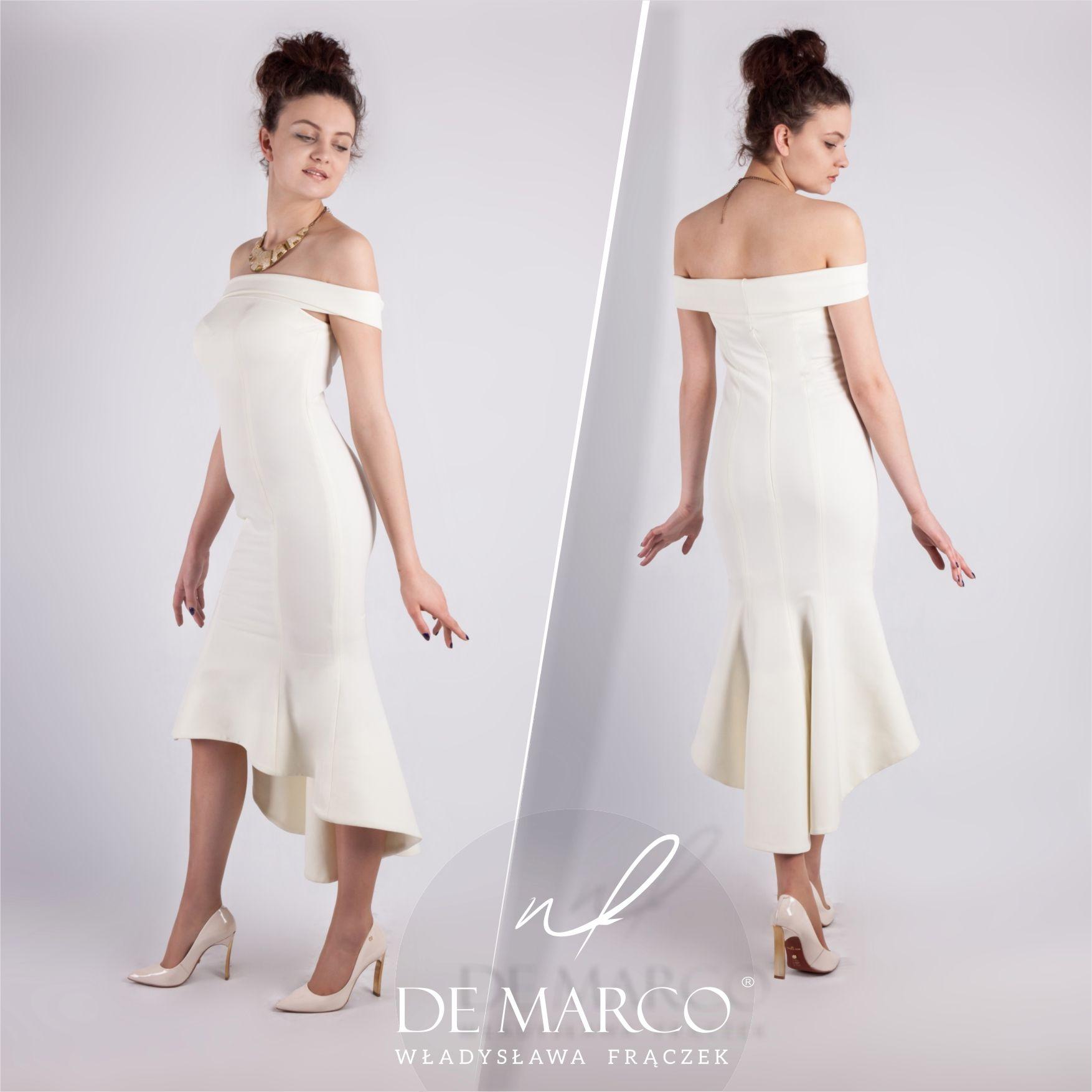 Sukienki Ecru Na Slub Cywilny De Marco Dresses Fashion Formal Dresses