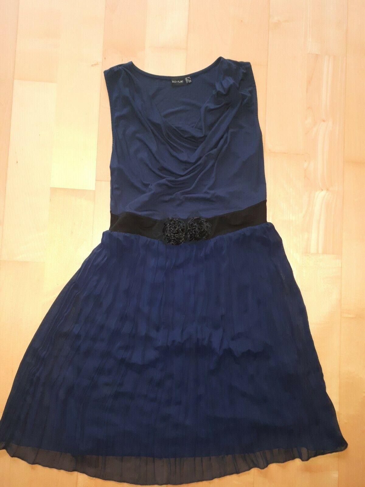 kleid gr m.festlich blau mit schwarz - festliche kleider