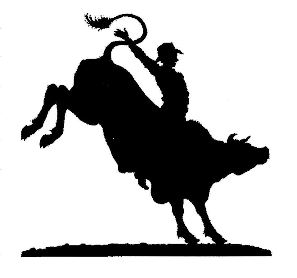 Joanne S Custom Bull Rider Silhouette Featuring Different