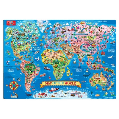 T.S. Shure Map Of The World Magnetic Puzzle 100pc | Products ...