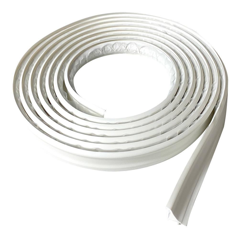 Instatrim 3 4 In X 1 2 In X 120 In White Pvc Inside Corner Self Adhesive Flexible Trim Molding It75inwht The Home Depot Moldings And Trim Flexible Molding Baseboard Trim