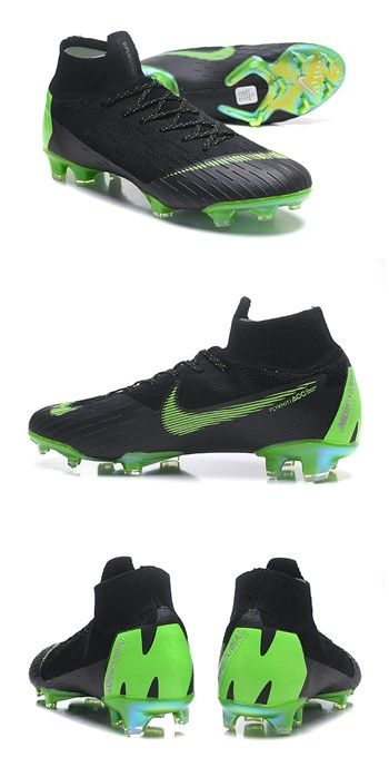 new styles d5ce0 3fde7 Nike Mercurial Superfly VI 360 Elite FG Top Cleats - Black Green. Find this  Pin and more on Zapatos de fútbol ...