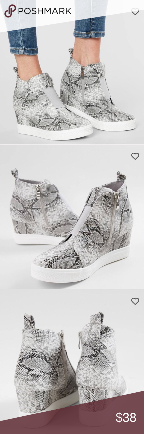 CCOCCI Zoey snakeskin wedge sneakers