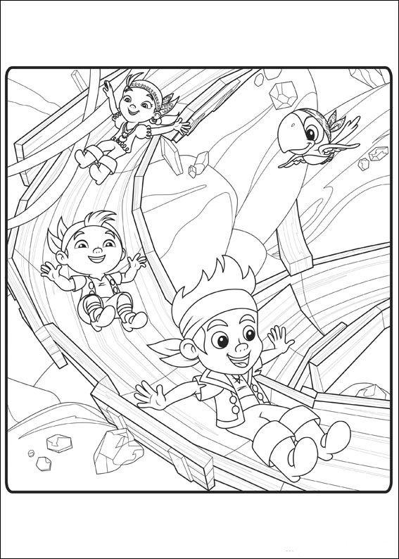 jake und die nimmerland piraten 1 ausmalbilder für kinder