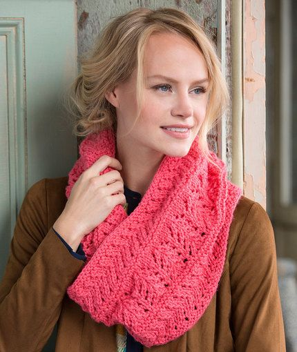 Covet This Lacy Cowl Free Knitting Pattern In Red Heart Yarns New