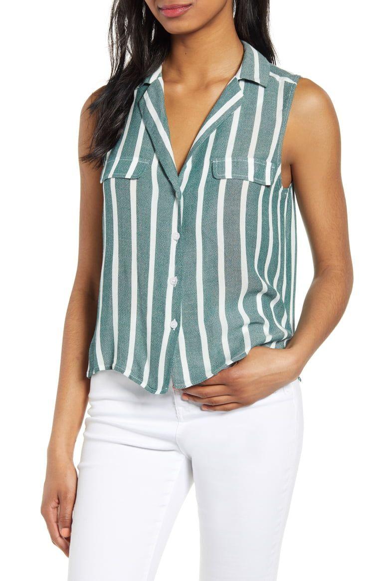 BP. Sleeveless Shirt (Regular & Plus Size) | Nordstrom