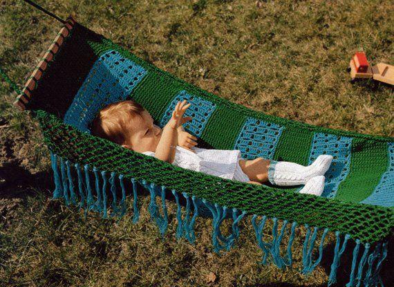 Crochet Baby Hammock Vintage Crocheting Pdf Pattern Pinterest