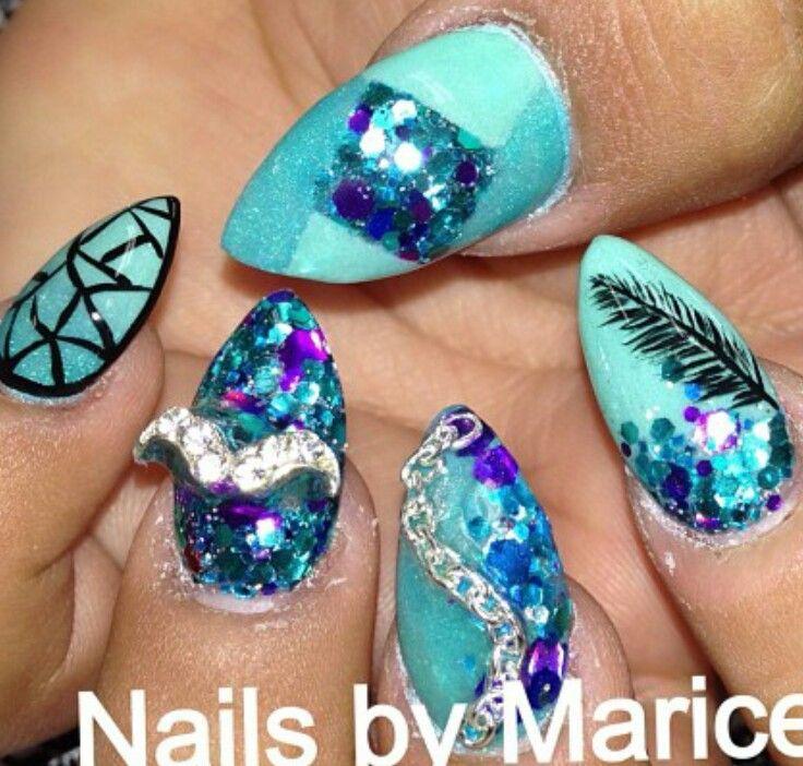 Pin by Naylz Did on NAILS | Pinterest | Mermaid nails, Nail nail and ...