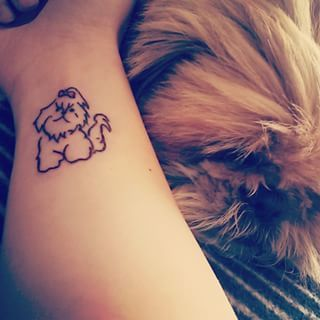 The 14 Coolest Shih Tzu Tattoo Designs In The World