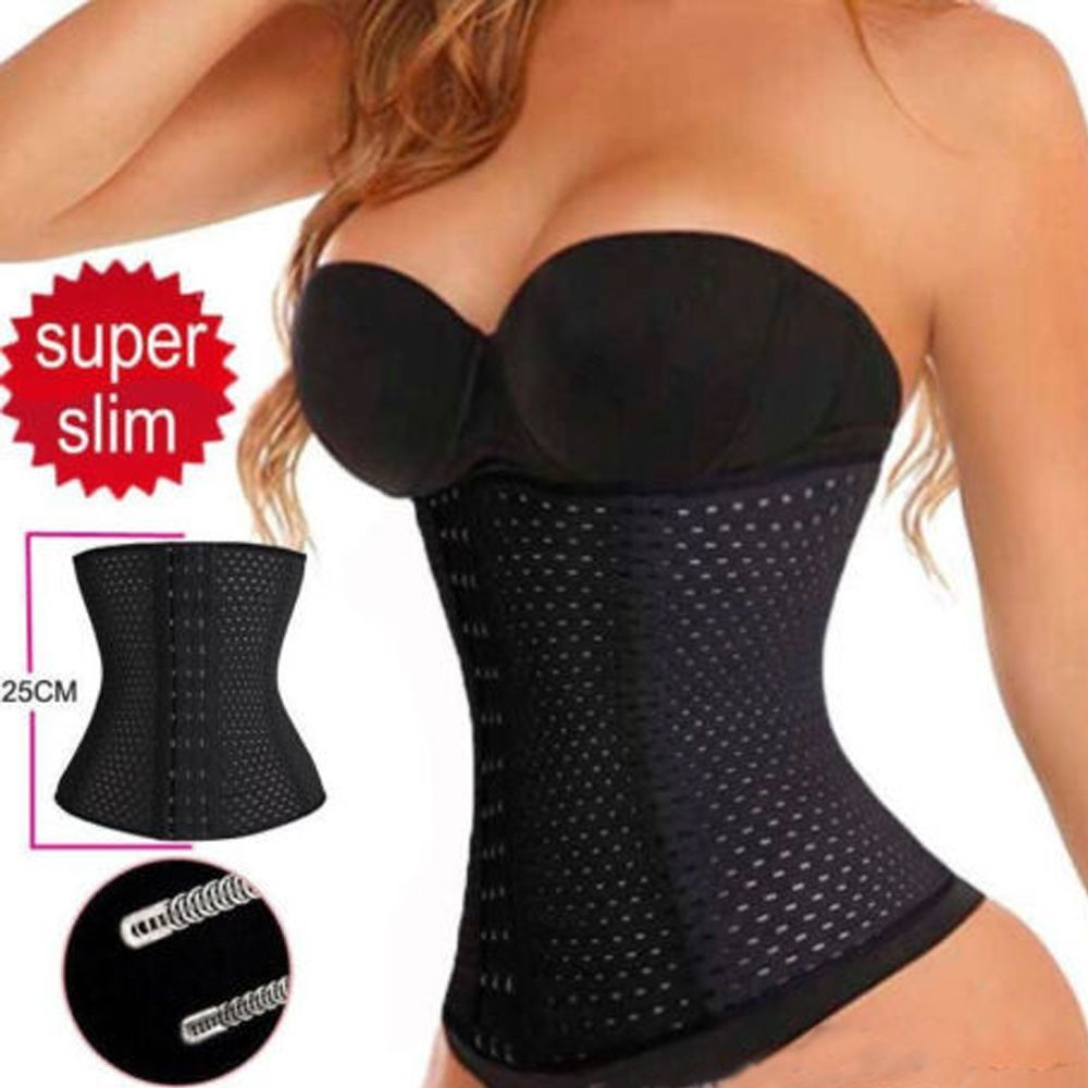 c2916852bdcc7 Women Body Shaper Latex Rubber Waist Trainer Cincher Underbust Corset  Shapewear