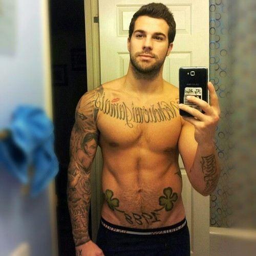 50 Fitness Tattoos For Men: Sexy Fine Man Tattoos Fit Fitness Beard Facial Hair Scruff