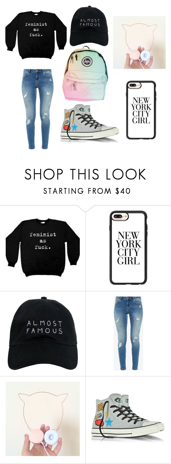 """""""as fuc*"""" by inae-leigh on Polyvore featuring moda, Casetify, Nasaseasons, Ted Baker e Converse"""