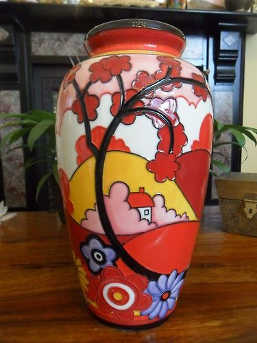 Art Deco Old Tupton Ware Porcelain Vase Dawn By Designer Jennie