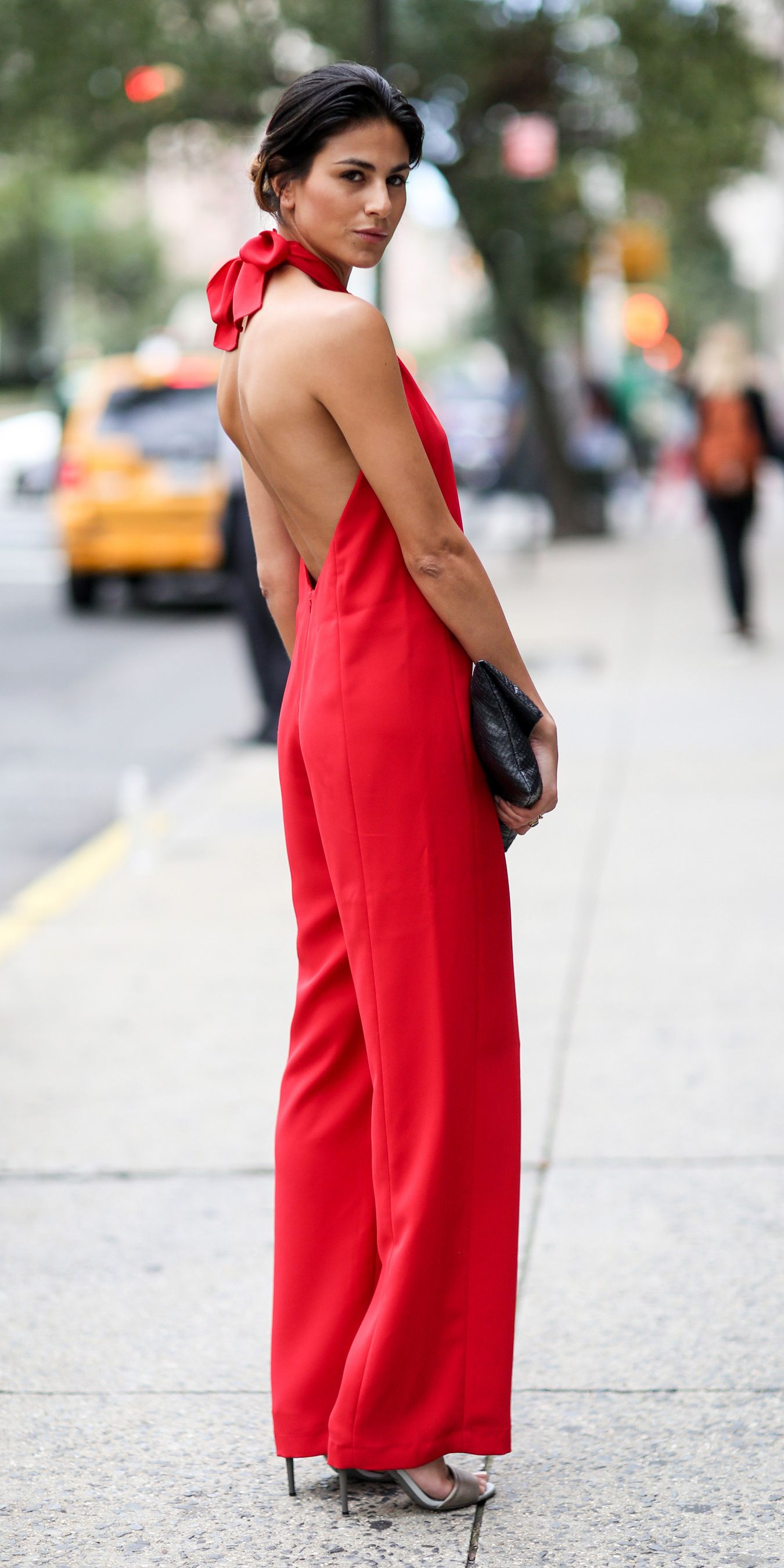 #NYFW Spring 2015 Street Style | Red Jumpsuit
