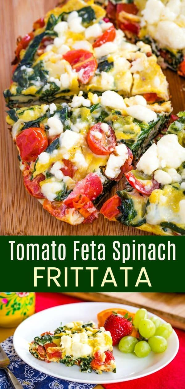 Photo of Tomato Feta Spinach Frittata – Cupcakes & Kale Chips